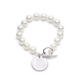 Lauren Pearl Line Bracelet, NWT